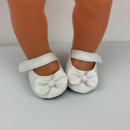 White Bow Shoes - 38cm Miniland