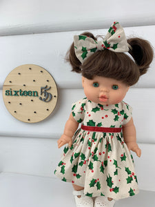 Large Holly - 34 / 38 cm Miniland & Minikane Dolls Dress