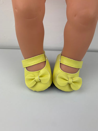 Yellow Bow Shoes - 38cm Miniland