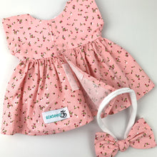 Load image into Gallery viewer, Miniland & Minikane  34 / 38 cm Tiny Pink Floral Dolls Dress