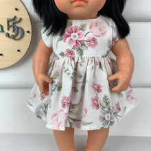 Load image into Gallery viewer, Up-cycled Floral - 34 / 38 cm Miniland & Minikane Dolls Dress