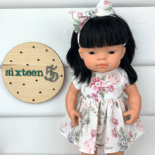 Load image into Gallery viewer, Miniland & Minikane 34 / 38cm  Vintage Up-cycled Floral - 34 / 38 cm Dolls Dress