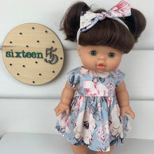 Load image into Gallery viewer, Blue Alaska - 34 / 38 cm Miniland & Minikane Dolls Dress