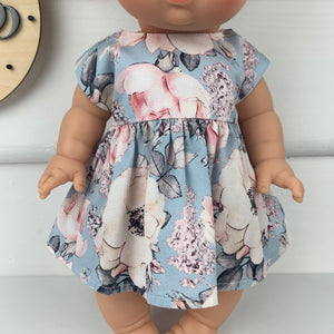 Blue Alaska - 34 / 38 cm Miniland & Minikane Dolls Dress