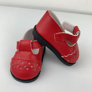 "Dolls Shoes - 32cm Miniland - ""T Bar"""