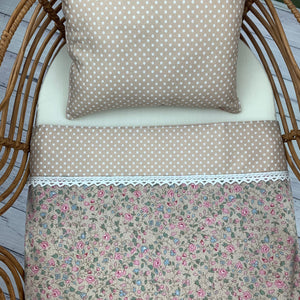 Fawn & Floral - Blanket & Pillow Set 2pc