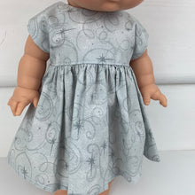 Load image into Gallery viewer, Silver Sparkles - 34 / 38 cm Miniland & Minikane Dolls Dress