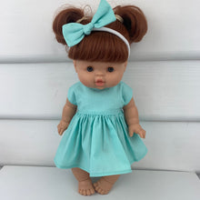 Load image into Gallery viewer, Miniland & Minikane 34 / 38 cm Mint Dolls Dress