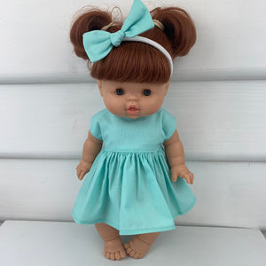 Miniland & Minikane 34 / 38 cm Mint Dolls Dress