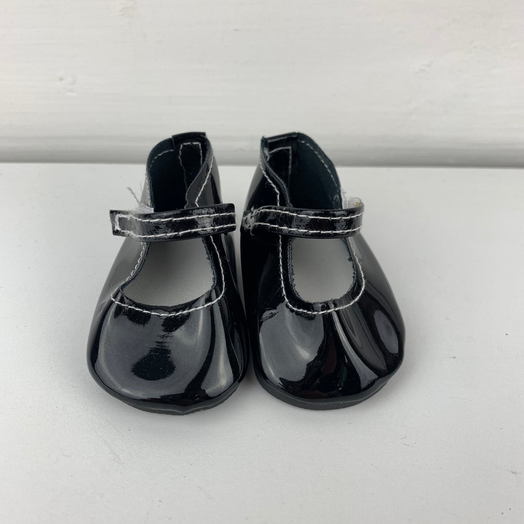 Classic Black (white stitching)  Shoes - 38cm Miniland