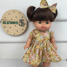 Load image into Gallery viewer, Fleur Mustard  - 34 / 38 cm Miniland & Minikane Dolls Dress
