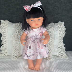 Miniland & Minikane 34 / 38cm Pink Alaska Dolls Dress