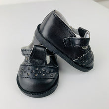 Load image into Gallery viewer, Black  'T-Bar' Shoes - 38cm Miniland