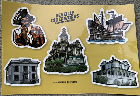 Astoria Historic Film Locations Sticker Sheet