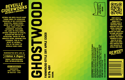 Ghostwood (Farmhouse Apple) 6.5% ABV