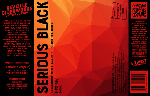 Serious Black (Farmhouse Apricot) 5.7% ABV