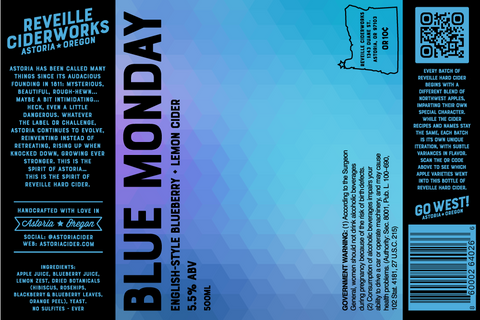 Blue Monday (English-Style Blueberry) 5.5% ABV