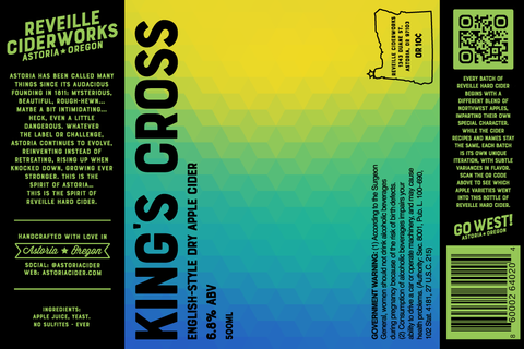 King's Cross (Semi-Dry English Apple Cider) 6.8% ABV