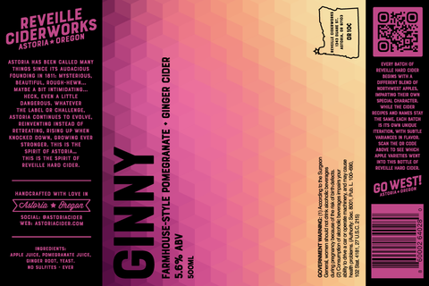 Ginny (Pomegranate + Ginger) 5.6% ABV