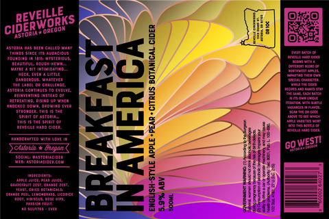 Breakfast in America (English-Style Apple + Pear + Grapefruit + Botanicals) 5.9% ABV