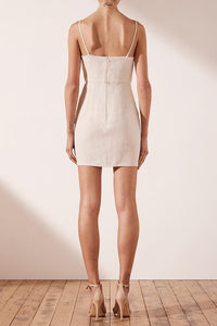 Shona Joy- Aluaro Linen Drape Dress