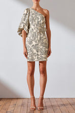 Load image into Gallery viewer, Shona Joy- Zella Linen Shoulder Dress