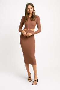 Kookai- Lola long sleeve cut out dress