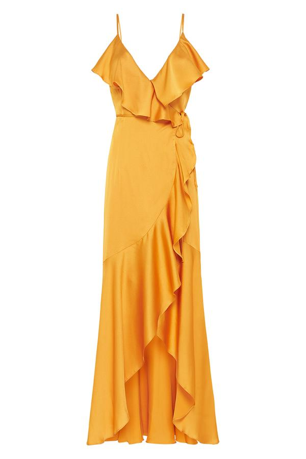Shona Joy- Oro Bias Frill Wrap Dress