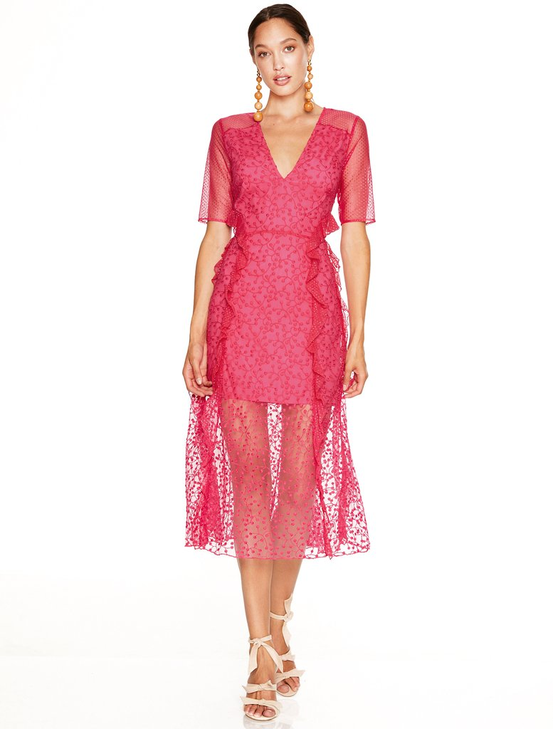 Talulah- Fuchsia delight midi Dress