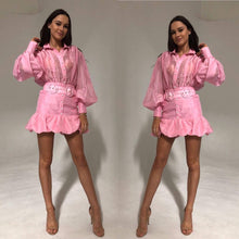 Load image into Gallery viewer, Mackenzie Mode- Seeing stars Dress Pink