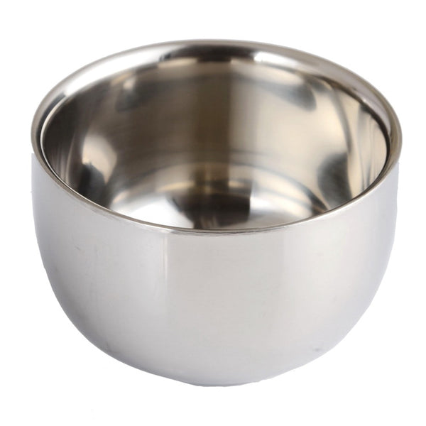 Simple Metal Shaving Bowl - Brushed Chrome
