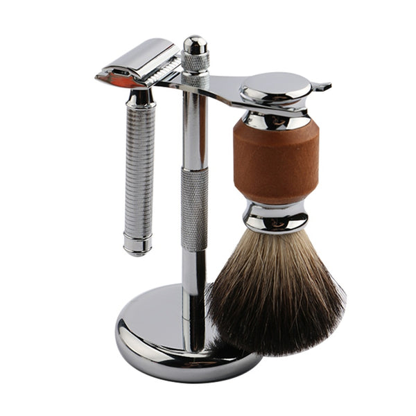 Premium Razor & Brush Holder - Silver