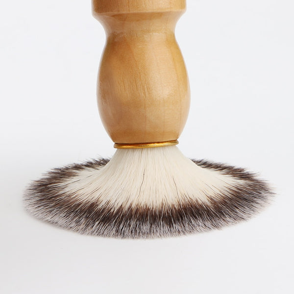 Basic Vegan Friendly Shaving Brush - Light Wood