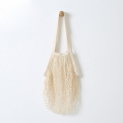 Net String Tote Bag - White (natural)