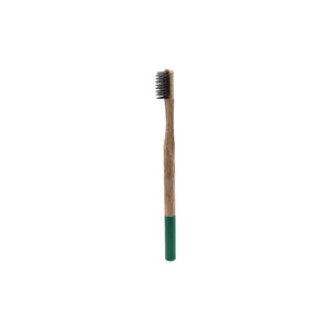 Premium Adult Bamboo Toothbrush - Soft Bristle (green)