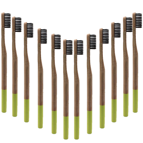 Premium Adult Bamboo Toothbrush - Soft Bristle (light green)