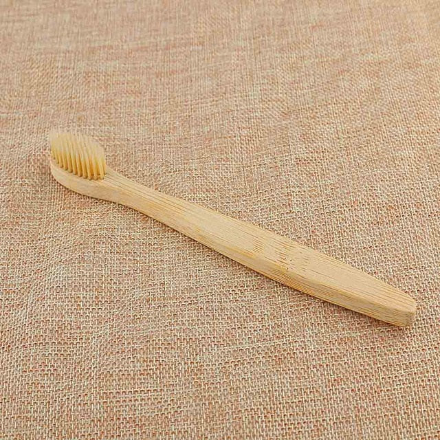 1PC Adult Bamboo Toothbrush - Soft Bristle
