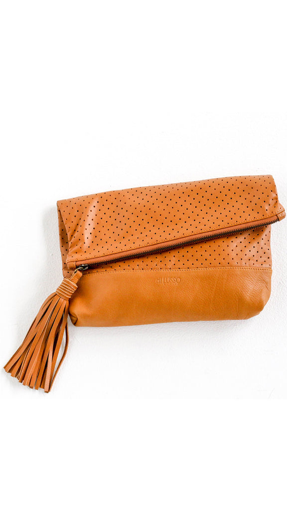 Brooklyn Clutch - Tan
