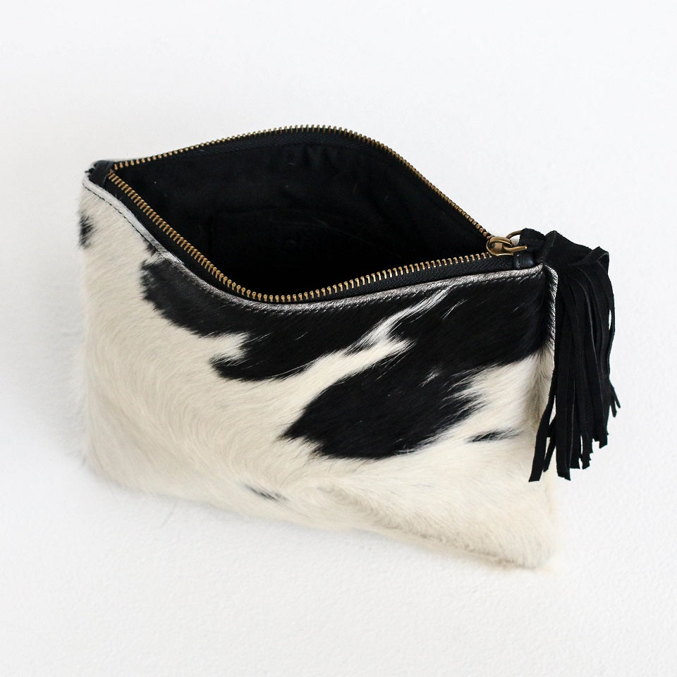 Roma Black/White Pouch
