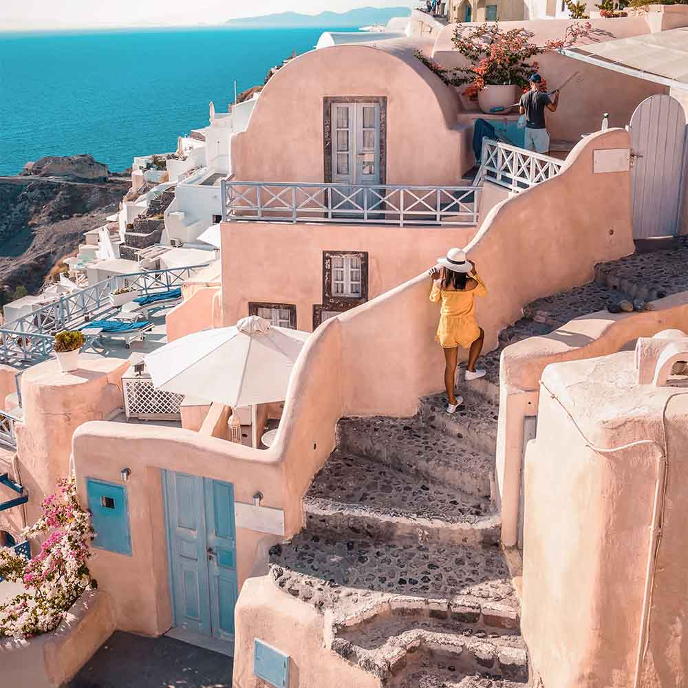 Sunkissed in Santorini