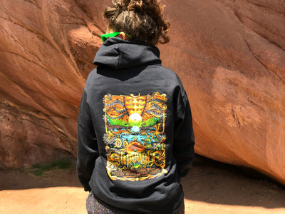 "Red Rocks ""Garden of Unearthly Delights"" Black Hoodie"