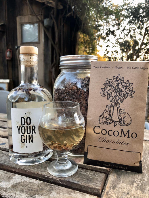 Cacao Chocolate Gin made by Cocomo Chocolates