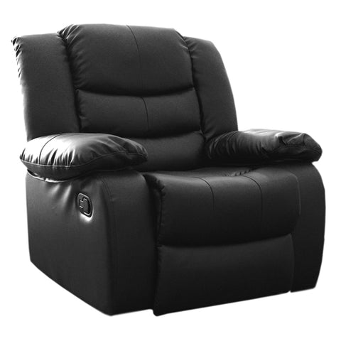Dream Recliner Bonded Leather -1R -BLACK