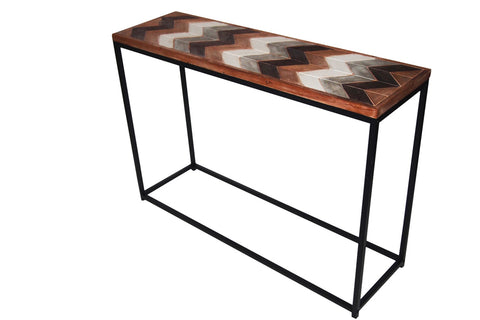 Hall Console Table Hallway Side Display Wooden top Metal Frame