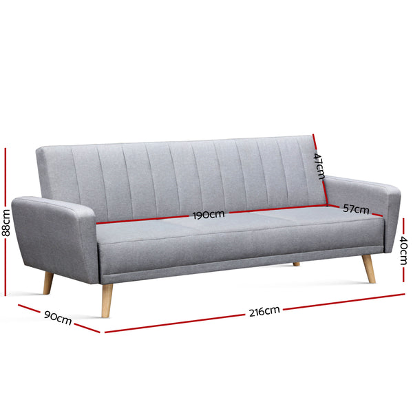 Artiss 3-piece Sofa Bed Set