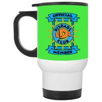 DisDad Club Official MemberXP8400W White Travel Mug