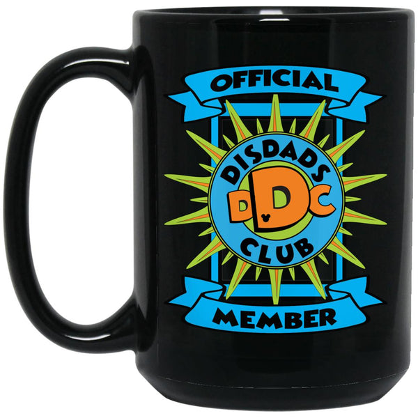 DisDad Club Official Member BM15OZ 15 oz. Black Mug