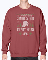 Ugly Sweater I want to believe