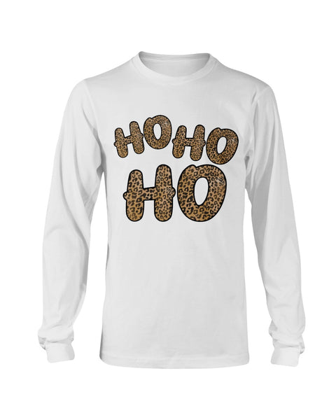 HO HO HO Leopard Long Sleeve T-Shirt