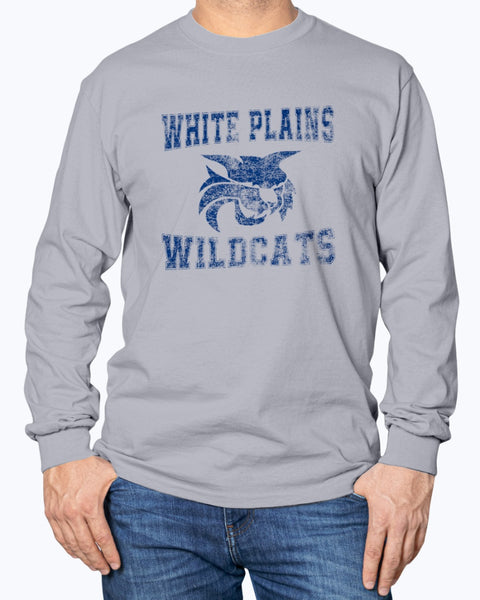 "White Plains Wildcats ""grunge""  Long Sleeve"